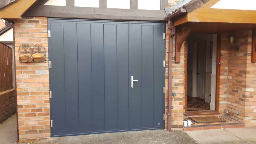 Insulated Side Hinged Garage Doors - After