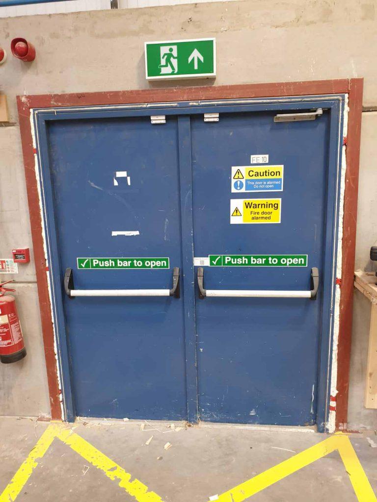 Steel Security Doorsets - Before