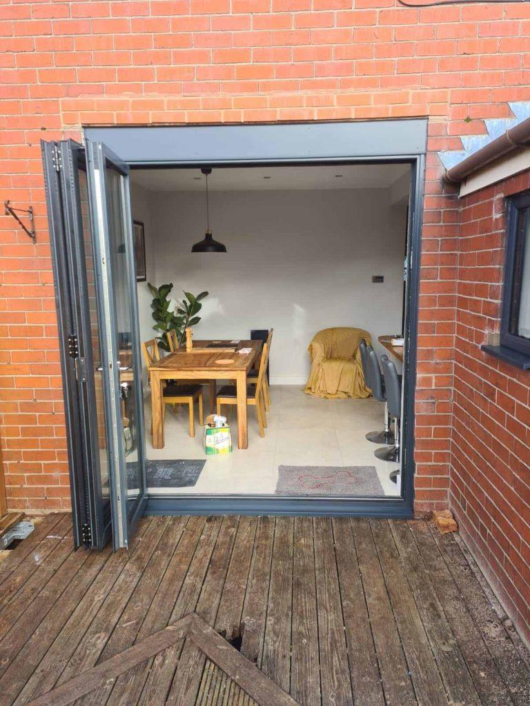 Aluminium Bi-folding Doors - After