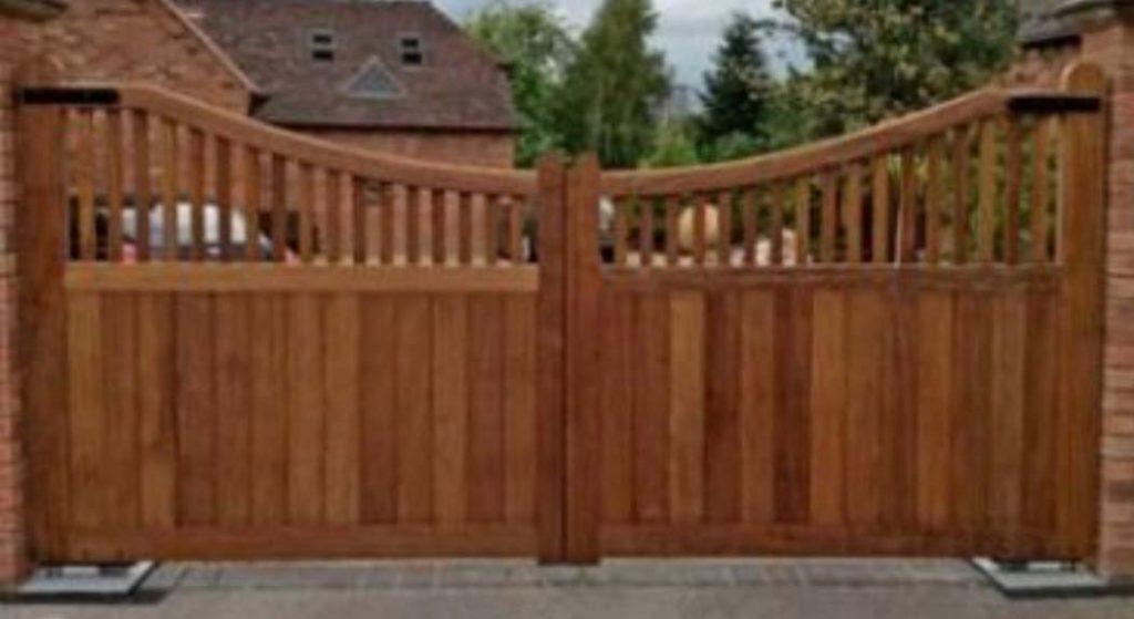 Wooden Entrance Gates