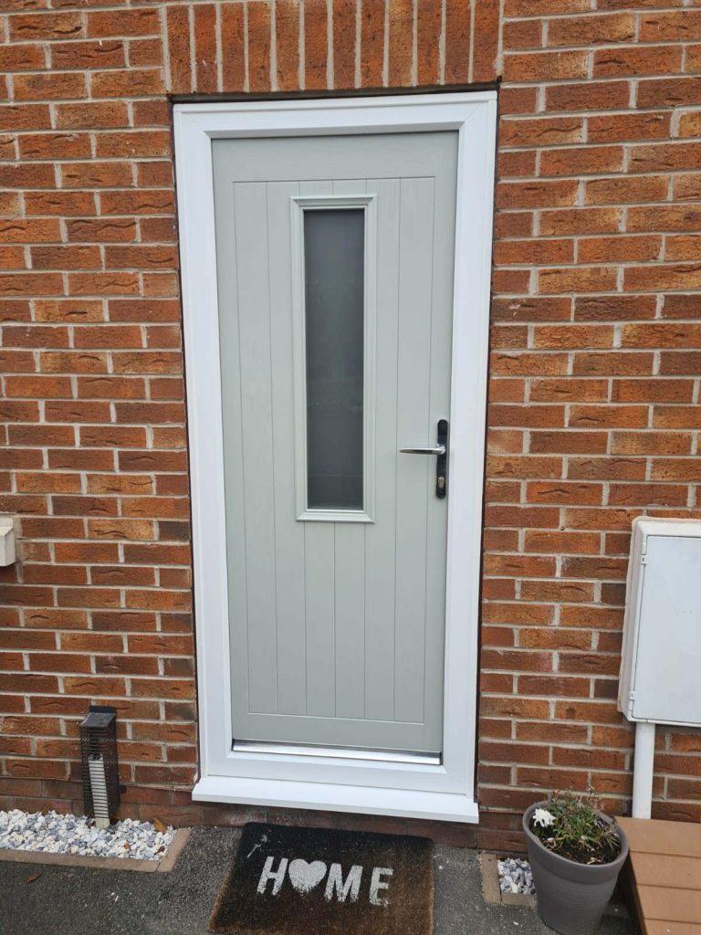 Composite front door - After